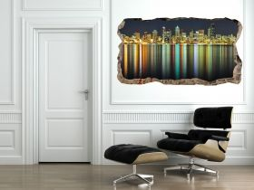 3D Mural Wall Art City lights, Glowing in the dark, 1.50 x 0.82 m