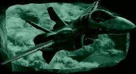 3D Mural Wall Art Airplane war, Glowing in the dark, 1.50 x 0.82 m