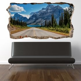 3D Mural Wall Art Take a vacation, Glowing in the dark, 1.50 x 0.82 m