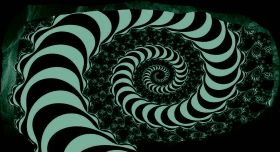 3D Mural Wall Art The hypnotic spiral, Glowing in the dark, 1.50 x 0.82 m
