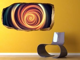 3D Mural Wall Art Gate, Glowing in the dark, 1.50 x 0.82 m