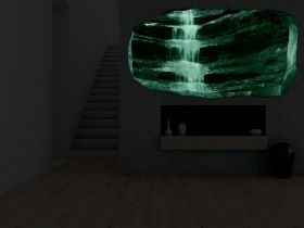 3D Mural Wall Art Zen waterfall, Glowing in the dark, 1.50 x 0.82 m