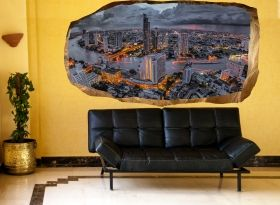 3D Mural Wall Art Life in Speed, Glowing in the dark, 1.50 x 0.82 m