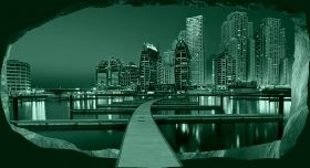 3D Mural Wall Art Let's have a walk, Glowing in the dark, 1.50 x 0.82 m