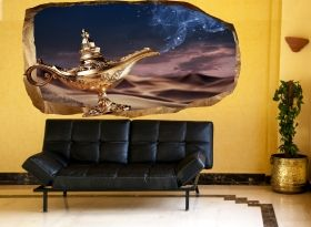 3D Mural Wall Art Make a wish, Glowing in the dark, 1.50 x 0.82 m