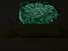 3D Mural Wall Art Careful!, Glowing in the dark, 1.50 x 0.82 m