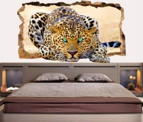 3D Mural Wall Art Blue eyes, Glowing in the dark, 1.50 x 0.82 m