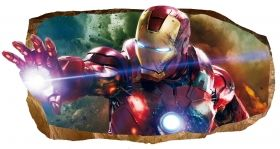 3D Mural Wall Art Light Force, Glowing in the dark, 1.50 x 0.82 m