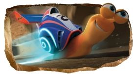 3D Mural Wall Art Turbo Speed, Glowing in the dark, 1.50 x 0.82 m