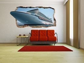 3D Mural Wall Art Cruise, Glowing in the dark, 1.50 x 0.82 m