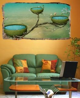 3D Mural Wall Art The magical world, Glowing in the dark, 2.20 x 1.20 m