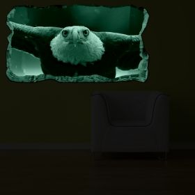 3D Mural Wall Art Vulture, Glowing in the dark, 2.20 x 1.20 m