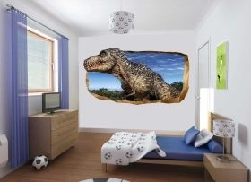 3D Mural Wall Art Dinosaur, Glowing in the dark, 2.20 x 1.20 m