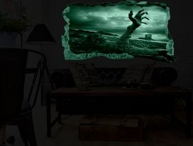 3D Mural Wall Art Help!!!, Glowing in the dark, 2.20 x 1.20 m