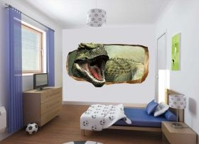 3D Mural Wall Art Another dinosaur, Glowing in the dark, 2.20 x 1.20 m
