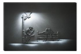 Canvas Wall Art Saxophonist, Glowing in the dark, 60 x 90 cm