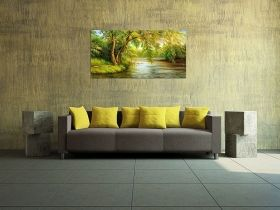 Canvas Wall Art Willow, Glowing in the dark, 60 x 120 cm