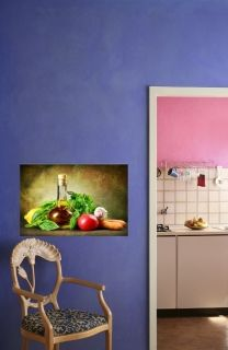 Canvas Wall Art Vegetables, Glowing in the dark, 80 x 120 cm