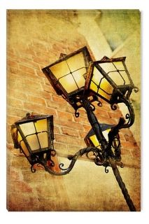 Canvas Wall Art Lantern, Glowing in the dark, 60 x 90 cm