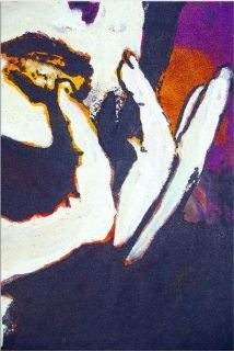 Canvas Wall Art Hand of woman, Glowing in the dark, 80 x 120 cm