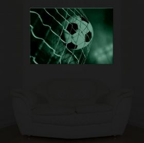 Canvas Wall Art Football, Glowing in the dark, 60 x 90 cm