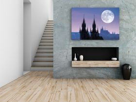Tablou Castel in Praga, luminos in intuneric, 60 x 90 cm