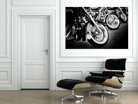 Tablou Motociclete, luminos in intuneric, 80 x 120 cm