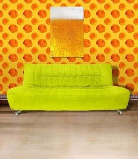 Canvas Wall Art Beer, Glowing in the dark, 60 x 90 cm
