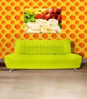 Canvas Wall Art Fruit plate, Glowing in the dark, 60 x 90 cm
