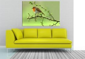 Canvas Wall Art On a branch, Glowing in the dark, 60 x 90 cm