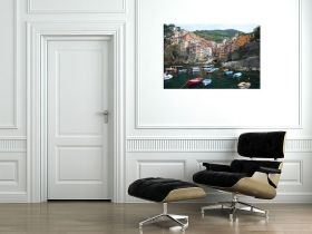Canvas Wall Art Fast access to the port, Glowing in the dark, 60 x 90 cm