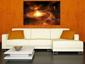 Canvas Wall Art The Heart of the Nebula Galaxy, Glowing in the dark, 80 x 120 cm