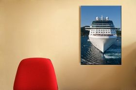 Canvas Wall Art Everybody on board, Glowing in the dark, 60 x 90 cm