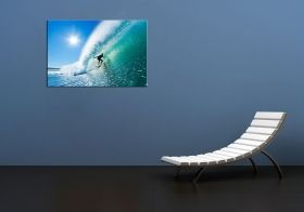 Tablou Surfer pe valul perfect, luminos in intuneric, 80 x 120 cm