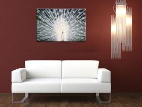 Canvas Wall Art White bread, Glowing in the dark, 80 x 120 cm