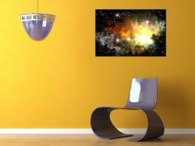 Canvas Wall Art Samsung V Galaxy, Glowing in the dark, 80 x 120 cm
