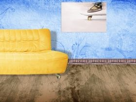 Tablou Skateboard, luminos in intuneric, 60 x 90 cm