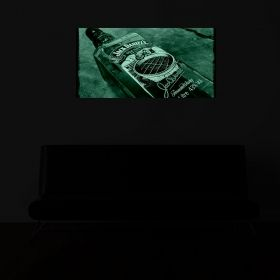 Canvas Wall Art Jack's at the bar, glowing in the dark, 60 x 120 cm