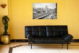 Tablou Podul Brooklyn New York, luminos in intuneric, 60 x 90 cm