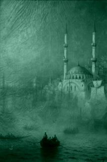 Canvas Wall Art Aivazovschy Constantinople, 1887, Glowing in the dark, 80 x 120 cm