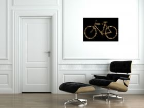 Tablou Bicicleta retro, luminos in intuneric, 80 x 120 cm