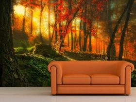 Mural Wall Art News from the garden, Glowing in the dark, 1.83 x 1.28 m