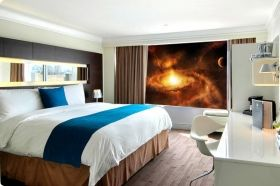 Mural Wall Art Nebula Galaxy, Glowing in the dark, 1.83 x 1.28 m