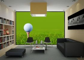 Mural Wall Art Golf, Glowing in the dark, 3.66 x 2.56 m