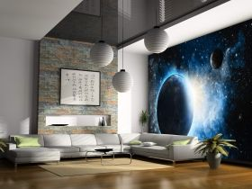 Mural Wall Art Cosmos, Glowing in the dark, 3.66 x 2.56 m