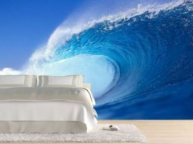 Mural Wall Art Wave, Glowing in the dark, 3.66 x 2.56 m