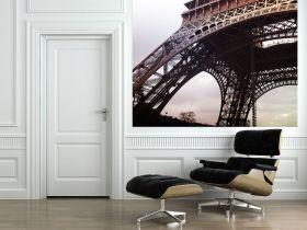 Mural Wall Art Eiffel Tower, Glowing in the dark, 1.83 x 1.28 m