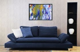 Luxury Framed Wall Art The color of life II, Glowing in the dark, 50 x 70 cm