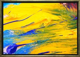 Luxury Framed Wall Art The color of life IV, Glowing in the dark, 70 x 100 cm