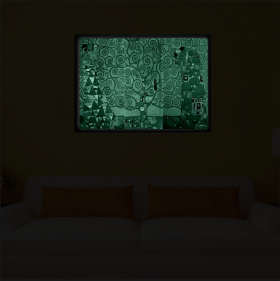 Luxury Framed Wall Art The Tree of Life, Glowing in the dark, 70 x 100 cm